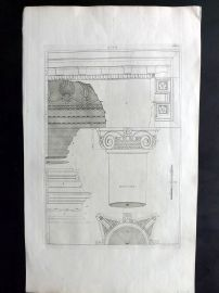 Palladio 1742 Architectural Print. Profile 97